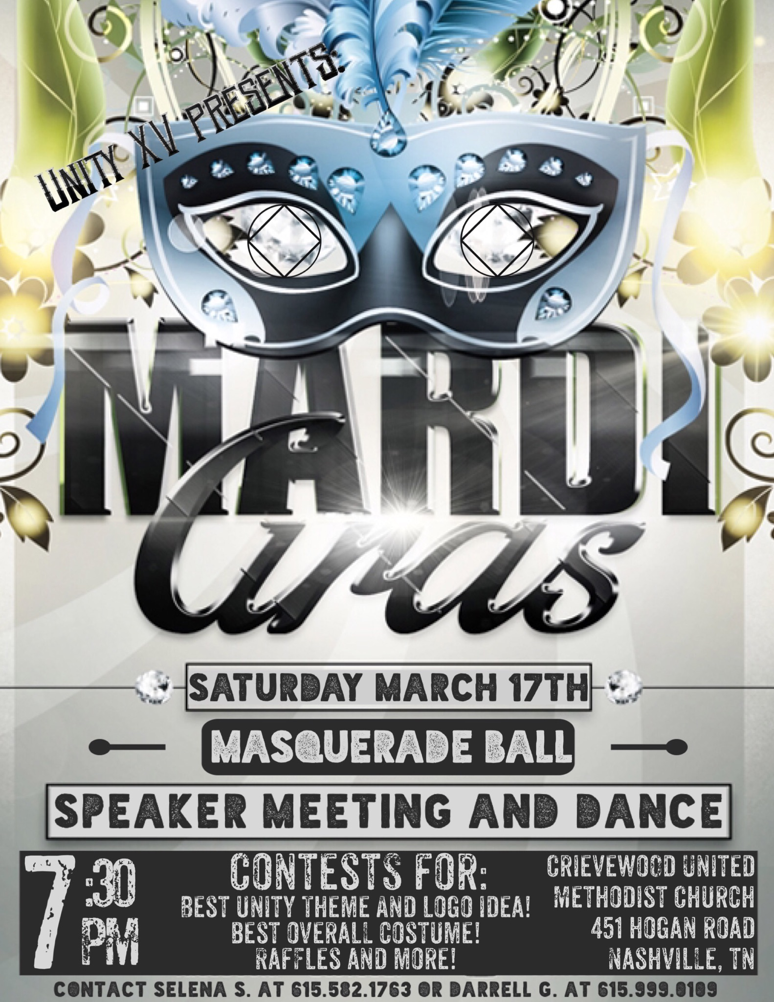 Mardi Gras Masquerade Ball Of Narcotics Anonymous In Nashville